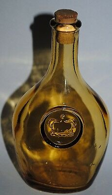 Wheaton Nj Antique Reproduction Bottle Crown Amber Color With Cork