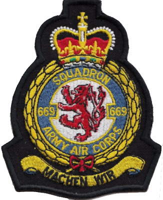 No. 669 Squadron British Army Air Corps AAC Crest MOD Embroidered Patch