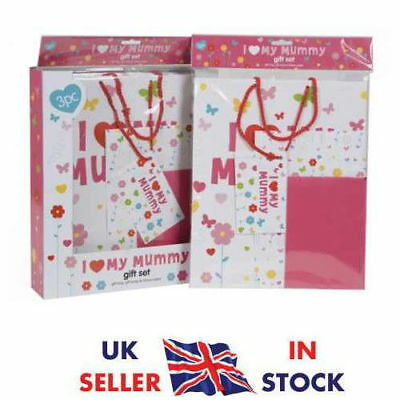 3 Piece I Love My Mummy Gift Wrap Set With Gift Bag, Paper - Tissue - Bag  UK