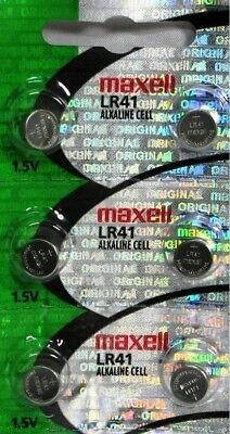 6 Maxell LR41 Button Cell Batteries. AG3 192