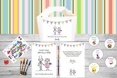 Personalised Childrens Kids Wedding Activity Pack Book & Box Favour WB1