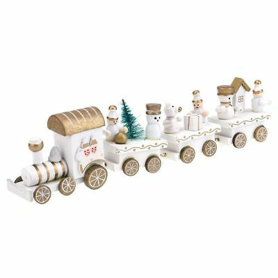 Personalised Kids Wooden Train Toy Children Baby Toy Gift Home Decor, White Q8Y1