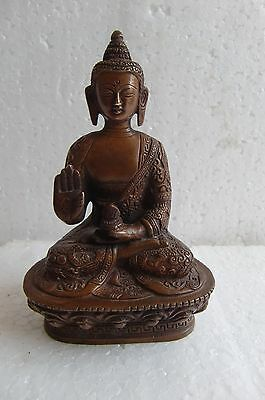 Vintage Brass Statue Of Sitting Blessing Pose Of Lord Buddha-Medicine Buddha