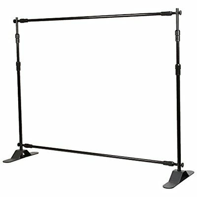 Backdrop Store Sign Holders Stand Telescopic Banner 8'x8' Step Repeat Adjustable