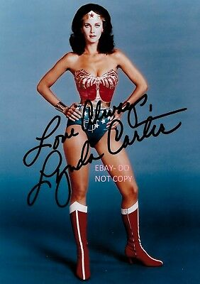 Lynda Carter Signed Photo. Reprint Autograph. Wonder Woman. Dukes Of Hazzard.