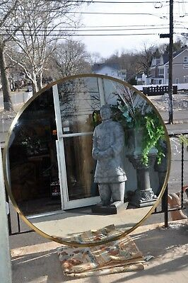 "Sirmons By Bromante Brass Custom Mirror 60"" Diameter Friedman Brothers Style"