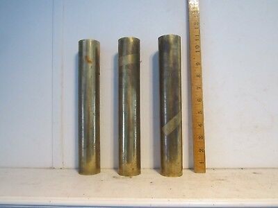 Vintage Lot of 3 Brass Wind Chime Door Bell Tubes Pipes PARTS Steampunk