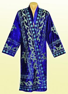 Traditional Uzbek Silk Embroidered Robe Chapan A3708