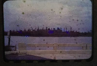 2 Vintage 40s 50s 35mm Slides Photos of Ship Graveyard Wilmington NC after WW2
