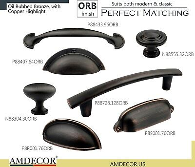 Amdecor Vintage Oil Rubbed Bronze Cabinet Pull Handle knob Hardware designer C