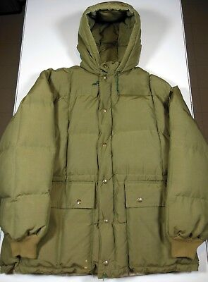 Vtg. Eddie Bauer Goose Down Quilted Insulated Coat Parka Mens L / XL. Ships Free