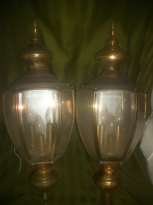 Matching Pair  Vintage Electric Outside Lights / Wall Sconce Lights / Home Decor