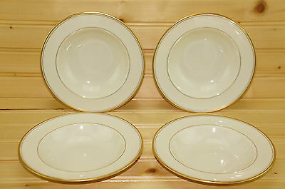 "Franciscan GOLD BAND Set of (4) Fruit/Berry/Dessert/Sauce Bowls, 6 1/4""  (Box#2)"