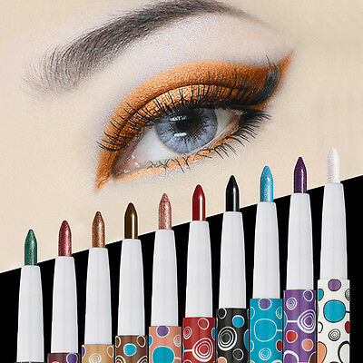 10Colors Matte Shimmer Eye Shadow Pencil Pen Makeup Highlighter Eyeliner Stick