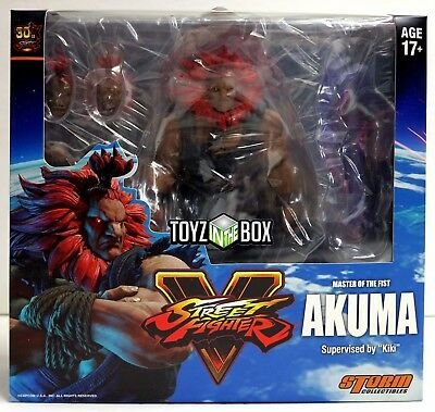 """In STOCK Storm Collectibles Street Fighter V """"Akuma"""" 1:12 Action Figure"""