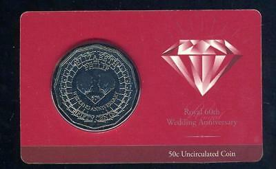 2007 Australian Uncirculated Fifty Cent - Royal 60th Wedding Anniversary