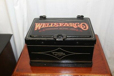 Early 1900s Original Strong Box Wells Fargo Cast Iron Vintage Safe