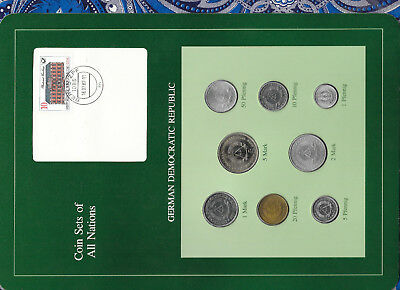 Coin sets of all nations East Germany 1979-1981 UNC 2,5 Mark 1979 1 Mark 1980