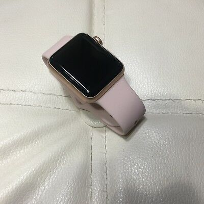 New Apple Watch Series 3 38mm Gold Case Pink Sand Band GPS +Cellular. Small Band