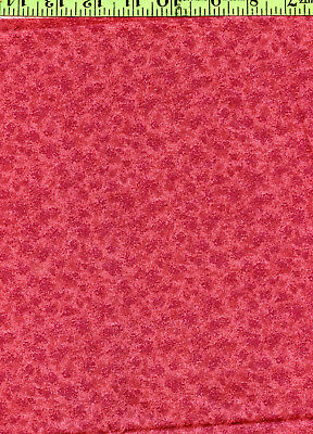 """Salmon Pink Abstract Calico Print 100% Cotton Quilt Quilting Fabric 26"""" Long"""