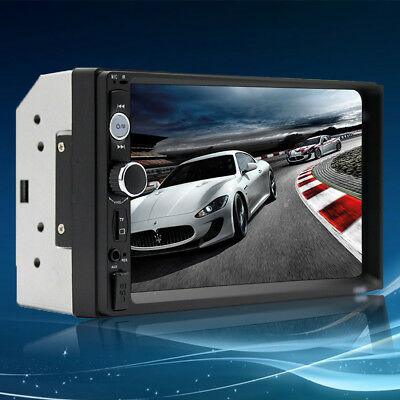 """7010B 7"""" Double 2Din Car Touch Screen MP5 Player Stereo Radio Bluetooth Camera"""