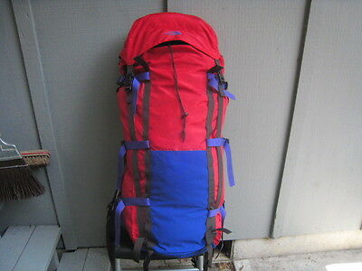 Rare To Find Big North Face Backpack With Hip Shocks 6000 + Hiking Pack Sz L See