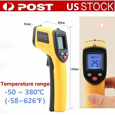 Non-Contact LCD IR Laser Infrared Digital Temperature Thermometer Gun US Ship NB