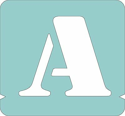 Set of Alphabet Stencils,letters+numbers, lowercases, Sizes: 40,50,75,100mm