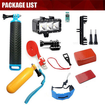 Diving Kits Floaty Selfie Monopod Floaty Bar Video Light for GoPro Hero 6 5 4 3+