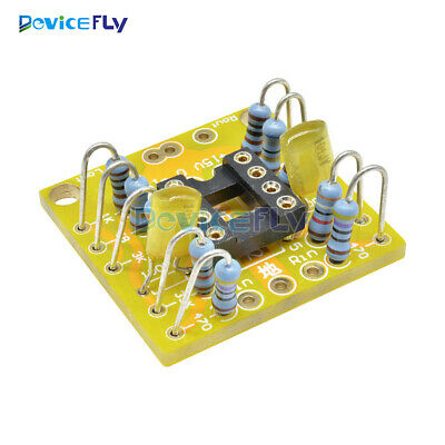 Dual OP Amp Preamp DC Amplification Board PCB for NE5532 OPA2134 OPA2604 AD826