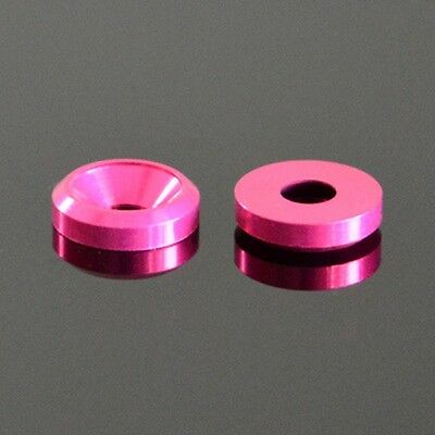 M4/4mm PEACH RED COLOR ALUMINUM ALLOY COUNTERSUNK HEAD WASHERS BOLT SCREW CUP
