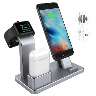 iPhone X/8/7 Aluminum Charging Stand Apple Watch AirPods Docking Station Holder