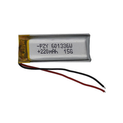 3.7V 220 mAh Polymer Li Battery For GPS Sat Nav Mp3 bluetooth headset pen 601336