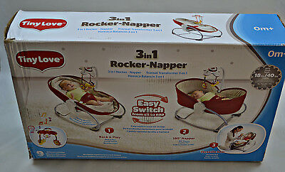 Baby Wippe Tiny Love 3-in-1 Rocker Napper, Red (BET34)