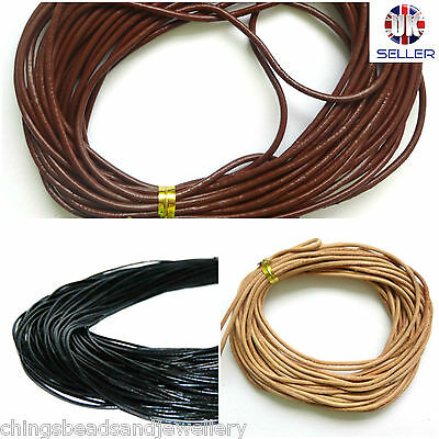 4M Genuine Leather Cord 3mm String Thong Jewellery Making