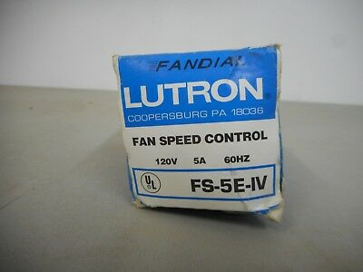 Lutron Fan Speed Control 120V 5A 60Hz Fs-5E-Iv
