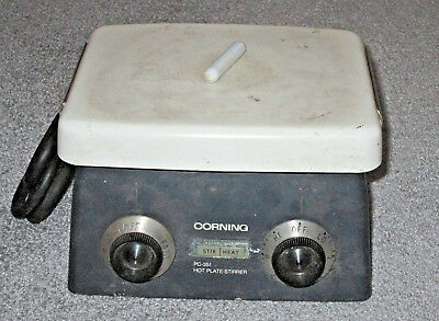 "Working Corning PC-351 Magnetic Stirrer Hotplate with 7.5"" x 6"" Ceramic Top"