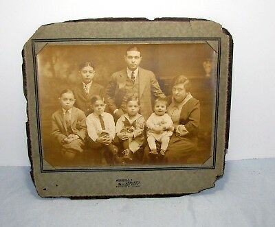 FAMILY GROUP - Antique Photograph - Late 1800's Early 1900's