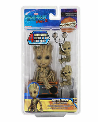 Marvel Guardians of the Galaxy Limited Set Groot Solar + Earbuds + Scalers Neca