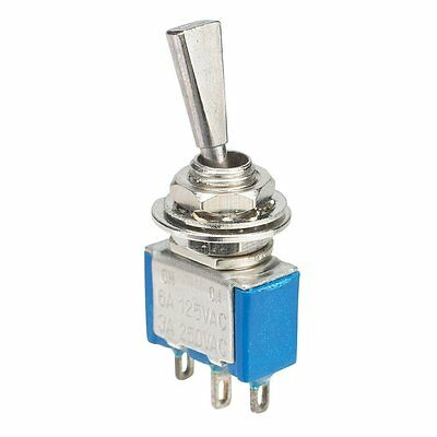 6 Amps @ 125 VAC SPDT Flat Lever Toggle Switch....Free Shipping!!