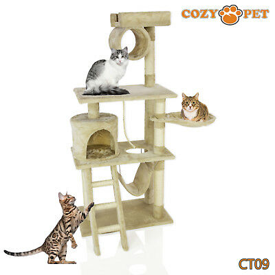 Cozy Pet Deluxe Cat Tree Sisal Scratching Post Quality Cat Trees - CT09-Beige