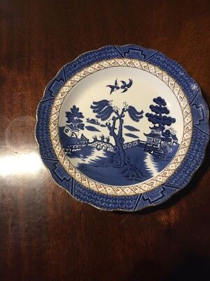 Vintage Booths Real Old Willow Pattern Plate