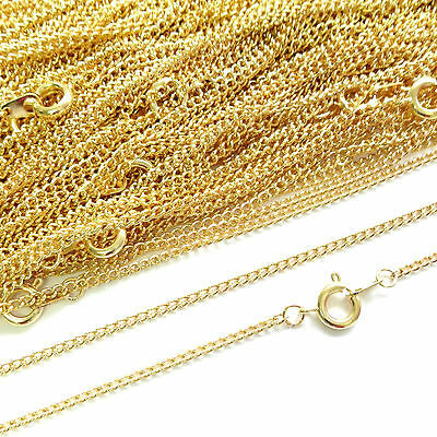 Top Quality Gold Plated Necklace Curb Chain 16 18 24 Inch