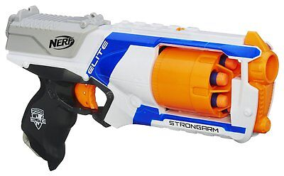 Nerf N Strike Elite Strongarm Blaster Rotating Barrel Toy Hand Gun 6 Dart 90 ft