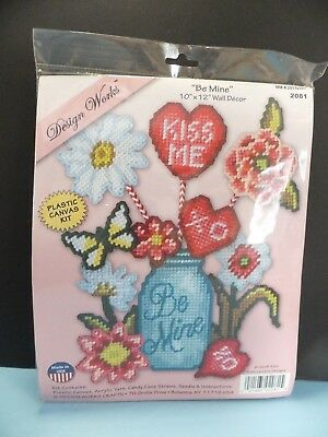 "BRAND NEW ""Be Mine"" by Design Works Plastic Canvas Kit"