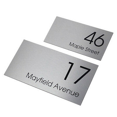 CUSTOM HOUSE SIGN 300 x 150 Street Name PERSONALISED Address PLAQUE House NUMBER