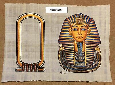 Your Name in Hieroglyphs on Genuine Egyptian Hand-Painted Papyrus | abaji55