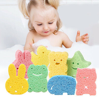 Soft Natural Baby Bath Sponge Face Body Cleaning Sea Brush No