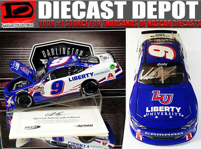 Autographed William Byron 2017 Darlington  Throwback Liberty University 1/24