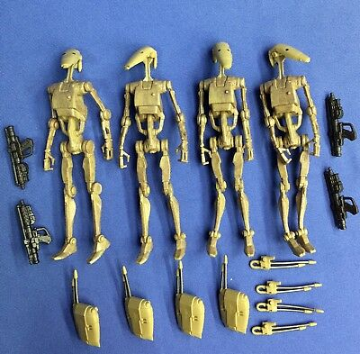 Star Wars The Vintage Collection BATTLE DROID Set of FOUR (4) VC78 100% COMPLETE